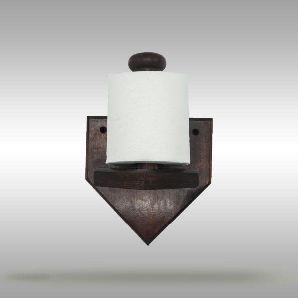Baseball Bat Toilet Paper Holder - Natural & Dark Stain