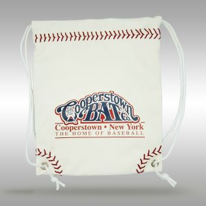 Baseball Leather - Stiches Drawstring Bag