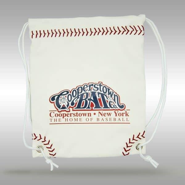Baseball Leather - Stiches Drawstring Bag