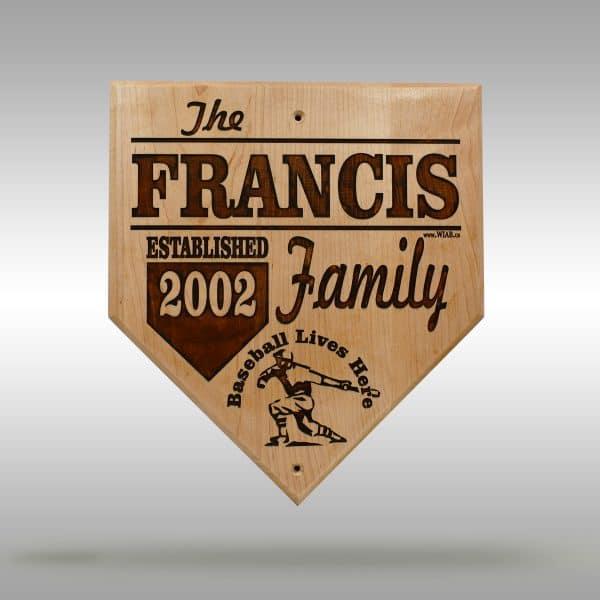 Family Established wood sign