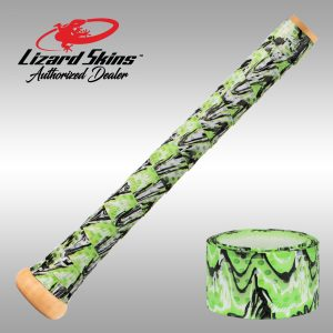 Lime Camo Lizard Skins, Bat Wrap, Bat Grip