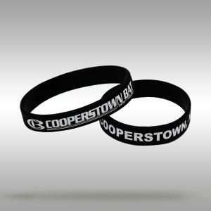 Cooperstown Bat CB Logo Wrist Band Bracelet - Black