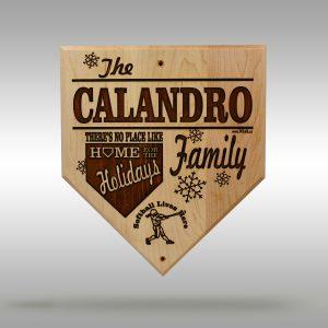 Home for the Holidays Softball Plaque