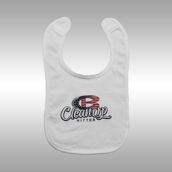 Cooperstown Bat CB Pro Logo Cleanup Hitter Baby Bib