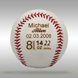 Custom Engraved Baby Gift Baseball