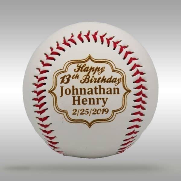 Custom Engraved Birthday Baseball