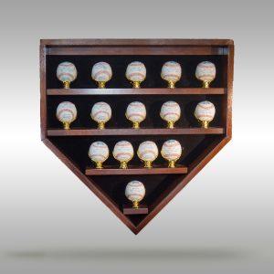 Home Plate Baseball Display Case