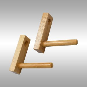 Single Baseball Bat Display Rack-Peg Style